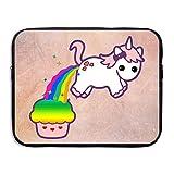 JiedaohO Cupcake Unicorn Convenient To Carry Computer Bladder Bag