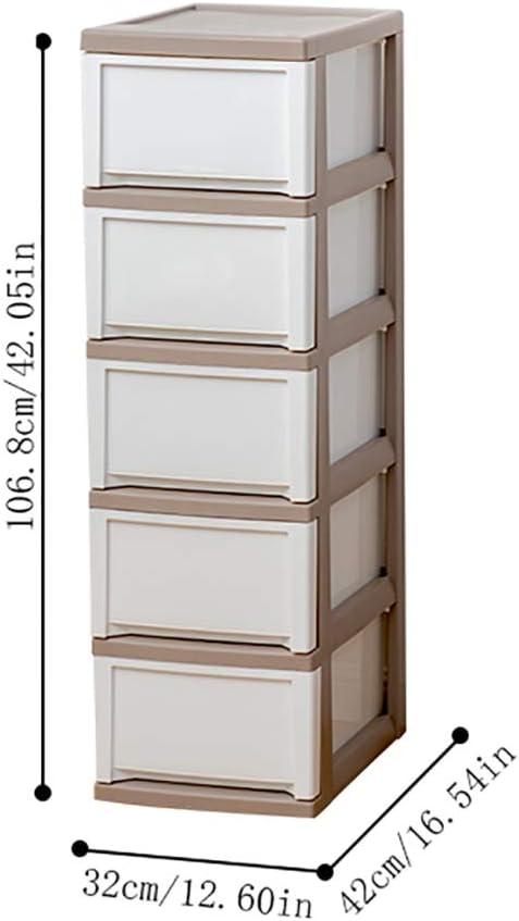 LYNNSNG Cajonera,con Cajones de Pie Armarios Estrechos,Habitación Alta Capacidad Gabinete de Baño,PP Multifuncional/blanco / 32x42x106.8cm: Amazon.es: Bricolaje y herramientas