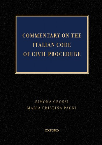 Commentary on  the Italian Code of Civil Procedure Pdf