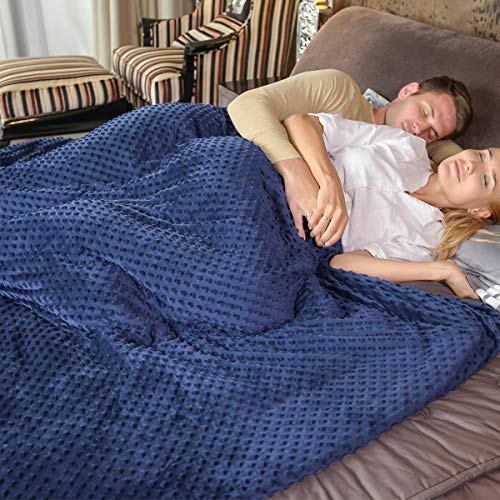 DYZQ Weighted Blanket Suit 60''x80'' 15lbs,Blue