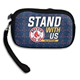 Stand With US With Boston Red Sox Purse & Key Wristlet Bag