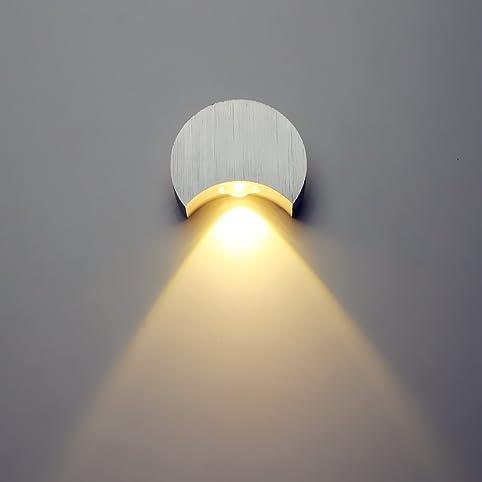 EM Led Spot Light Aluminum Diameter80X30mm 3W Led Wall Sconce For ...