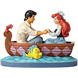 Jim Shore Disney Traditions by Enesco Ariel and Prince Eric In Rowboat Figurine