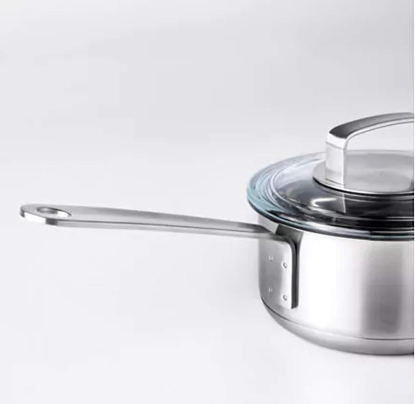Cazo con tapa de acero inoxidable de 1 litro/vidrio ...