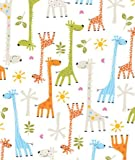 Baby Giraffe Gift Wrapping Roll 24'' x 15' - Baby Shower Gift Wrap Paper