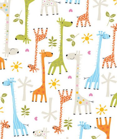 Baby Giraffe Gift Wrapping Roll 24
