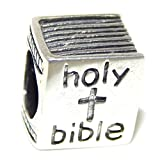 925 Sterling Silver ''Holy Bible'' Charm Bead
