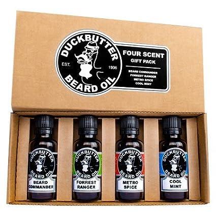 DUCKBUTTER Duck Butter Beard Oil - Natural & Organic 4-Pack Boxed Gift Set - BEST DEAL! by DuckButter Rexx Labs RL-DB-2010