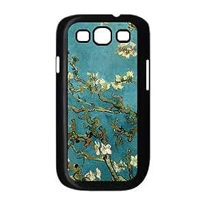 Samsung Galaxy S3 9300 Case Covers Black Van Gogh Almond Blossoms O6KD