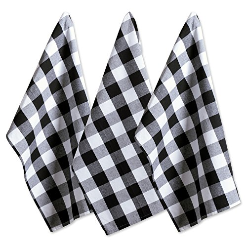 (DII Cotton Buffalo Check Plaid Dish Towels, (20x30