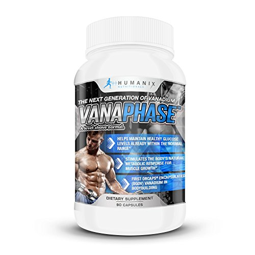 Vanaphase – The New Generation of Vanadium Enhanced Mineral Supplement; Fuller & Harder Muscles; Achieve Greater Pumps & Vascularity; Maintain Blood Sugar, Increase Hormones & Metabolic Muscle Growth by Humanix Nutritionals