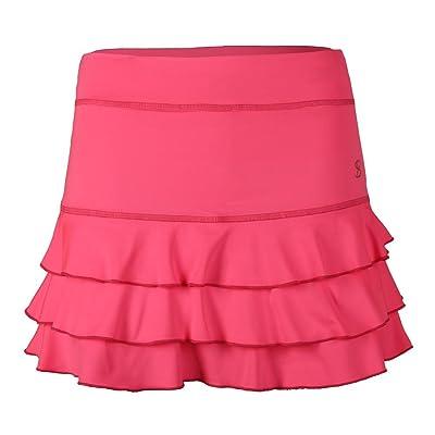 SOFIBELLA Women`s 13 inch Tennis Skort Neon Pink-(1686NPK-F17)