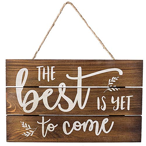- Outshine -The Best is Yet to Come Wooden Inspirational Quote Sign, Rustic Wall Décor, 6