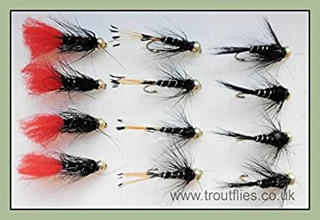Fly Fishing PRIME COLLECTION Black Pennel Wet Fly pack Size 12 pack of 12
