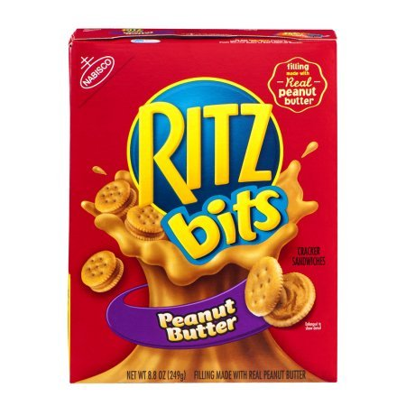 RITZ BITS CRACKERS PEANUT BUTTER SANDWICH 7.5 OZ (Butter Bits Peanut Ritz)