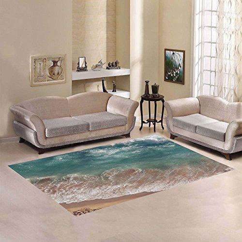 D-Story Sweet Home Art Floor Decor Beach Sea and Ocean Wave Area Rug Carpet 7'x5' For Living Room Bedroom