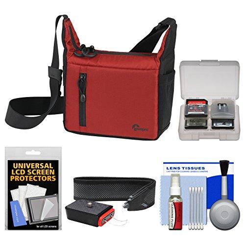 Lowepro Streamline 100 ILC Digital Camera Case (Red/Black) with Strap Kit for Sony Alpha, Olympus OM-D/PEN, Nikon 1, Panasonic G Series
