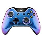 eXtremeRate Custom Design Unique Chameleon Chamillionaire Glossy Top Shell Case Front Housing Replacement Faceplate Kits for Xbox One Remote Controller Cover