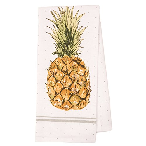 Pantry Pineapple Kitchen Dish Towel Set of 4, 100-Percent Cotton, 18 x 28-inch by KAF Home (Image #1)