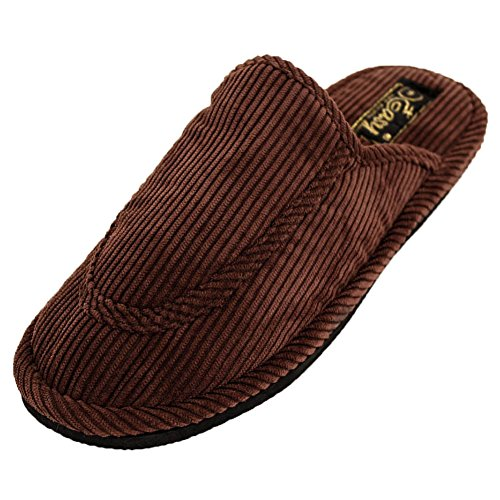 Easy Back Brown USA Open Slippers Corduroy Comfort Men's rqtrSzwxF