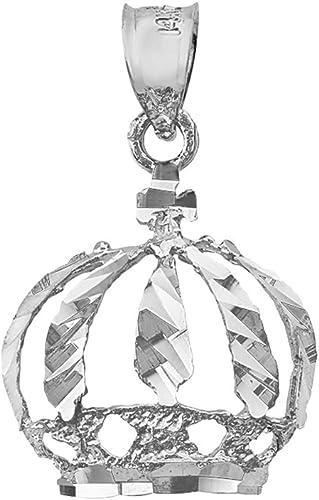10k Yellow Gold Crown Polished Charm Pendant