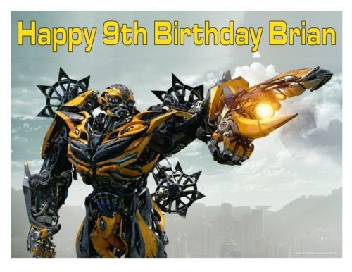 Transformers Bumblebee edible party cake topper cake image sheet decoration