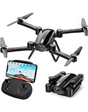 $69 » SIMREX X900 Drone Optical Flow Positioning RC Quadcopter with 1080P HD Camera, Altitude Hold Headless Mode, Foldable FPV Drones WiFi Live Video 3D Flips 6axis RTF Easy Fly Steady for Learning