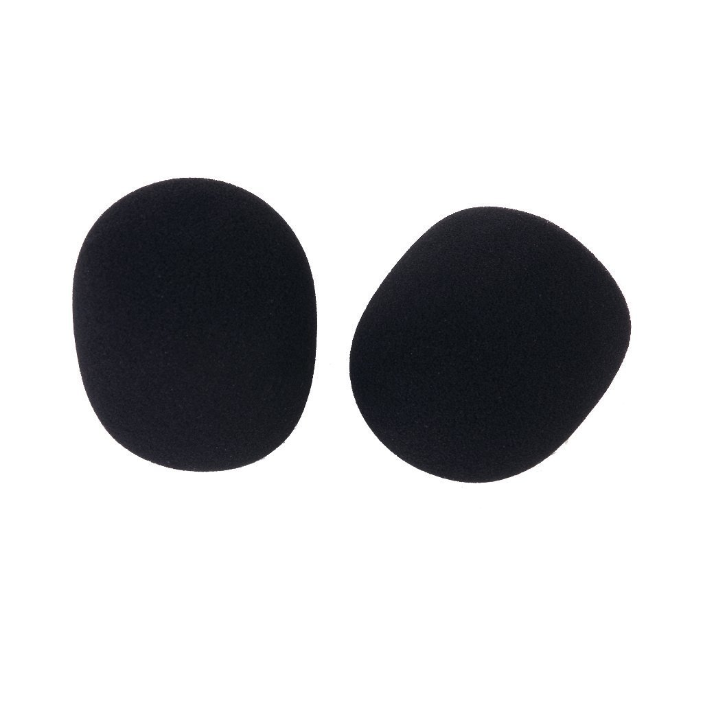 Microphone Foam Cover - SODIAL(R)2 pcs Studio Microphone Mic Foam Protective Cover Black