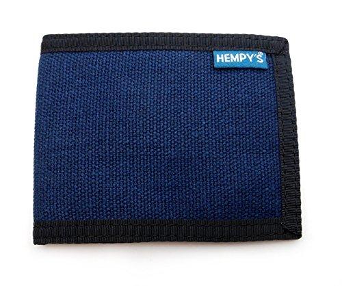 Hempy's Hemp Bi-fold Slim Line Wallet - Blue - One Size - Hemp Accessories Hemp Wallets