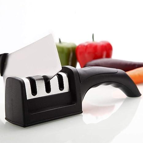 Afilador rápido de cuchillos de cocina, afilador de ...