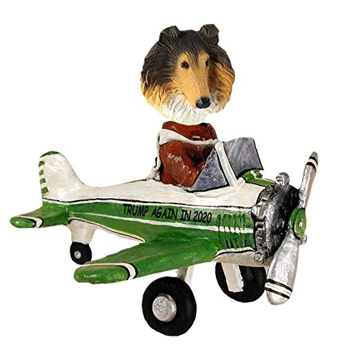 Sable Collie Airplane Doogie Collectible Figurine ()