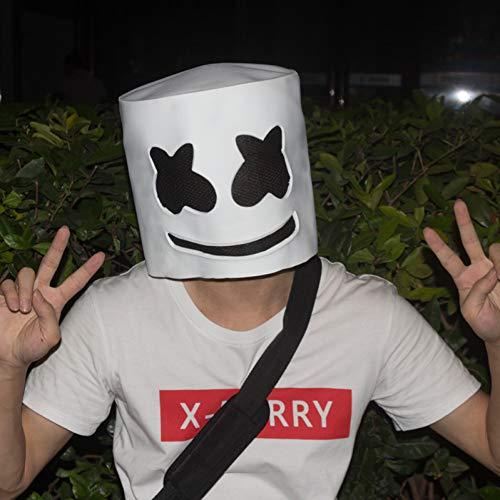 Bristol Clubs Halloween (GAJSDJHN Mask Halloween Party Night Club Latex White Mask Adult Marshmallow Mask Cosplay Costume)