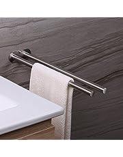 Ruicer Portasciugamani da Parete - Porta Asciugamani Bagno da Muro 2 Bracci Acciaio Inox 40 cm Accessori per Il Bagno