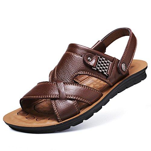 Gran Hombres De Padre De Marrón B Verano Negro Sandalias 2018 Zapatos Zapatillas Hombres Casual Los Zapatos De Playa De De Cuero Tamaño Nuevo De WKNBEU Amarillo Los AOTnxO