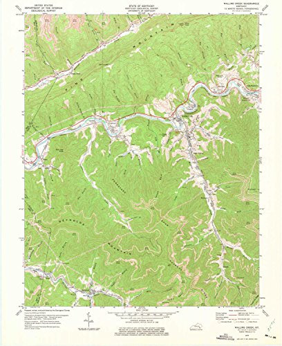 River Road Pearl (Wallins Creek KY topo map, 1:24000 scale, 7.5 X 7.5 Minute, Historical, 1974, updated 1975, 27 x 22 IN - Tyvek)