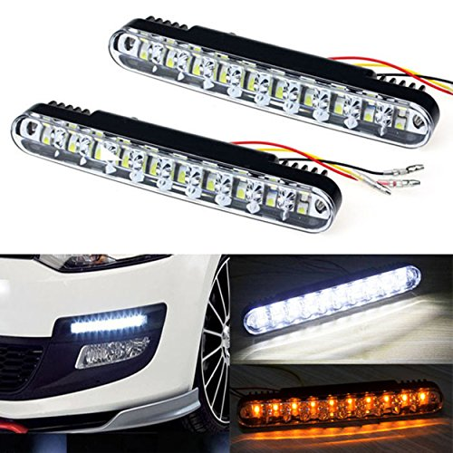 Price comparison product image Kingfansion 2x 30 LED Car Daytime Running Light DRL Daylight Lamp with Turn Lights