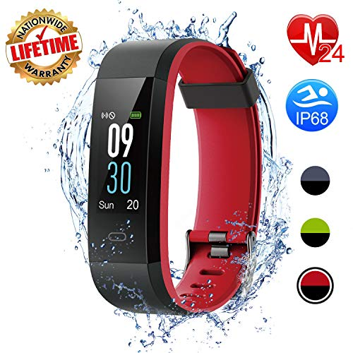 I-SWIM Fitness Tracker, Activity Tracker Watch with Heart Rate Monitor, Sleep Monitor,Calorie Counter, IP68 Waterproof Smart Fitness Band with Step Counter, Pedometer Watch for Kids Women and Men ()
