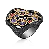Black Coloured Global Trend Ring for Women|Gift for Her Birthday|Christmas Gift for Her