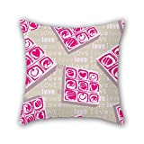NICEPLW The love throw pillow covers of ,16 x 16 inches / 40 by 40 cm decoration,gift for bf,seat,boys,gril friend,teens girls,christmas (each side)