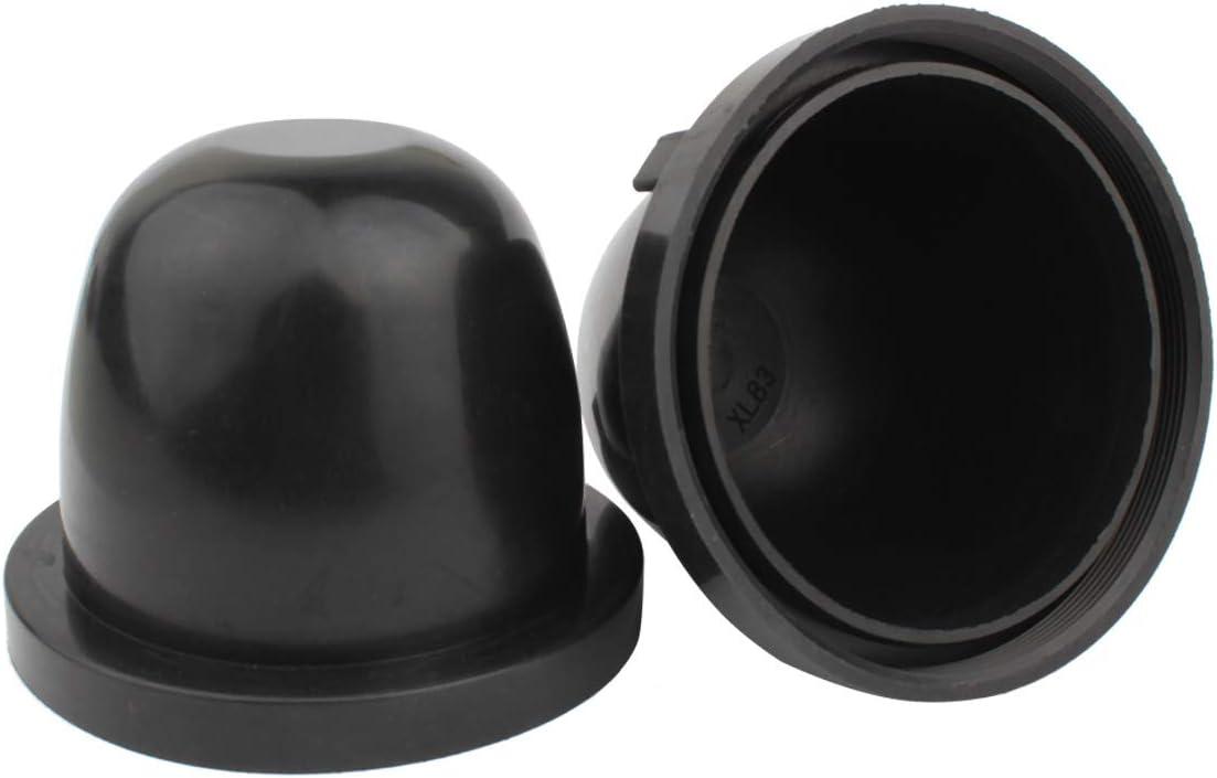 Pair Car HID LED Headlight Lamp Bulb Dust Covers Light Caps Dustproof 75mm