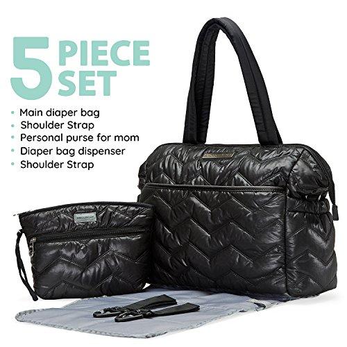 SoHo diaper bag Washington Chevron Stripe 5 pieces set nappy