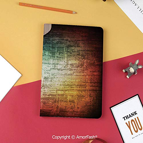 Stock Guitar Case Cover - Case for Samsung Tab S3 9.7 SM-T820 SM-T825 Tablet Case Protective Cover Crystal Case,Guitar,Abstract Grunge Retro Background with Headstock and Tuning Pegs Blues Jazz Musician,Multicolor