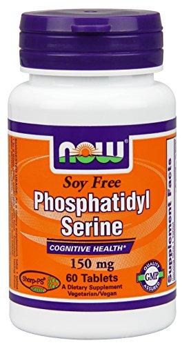 Now Foods Soy-free Phosphatidyl Serine, Фосфатидилхолин Серина 150 mg, 60 Count