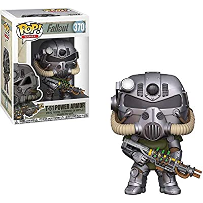 Funko Pop! Games: Fallout - T-51 Power Armor, Standard, Multicolor: Toys & Games