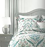 3-Piece King Tahari Home Frieda Meadow Medallion Duvet and Pillow Sham Set (King)
