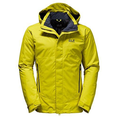 Jack Wolfskin Men's Northern Edge Jacket, Wild Lime, Large