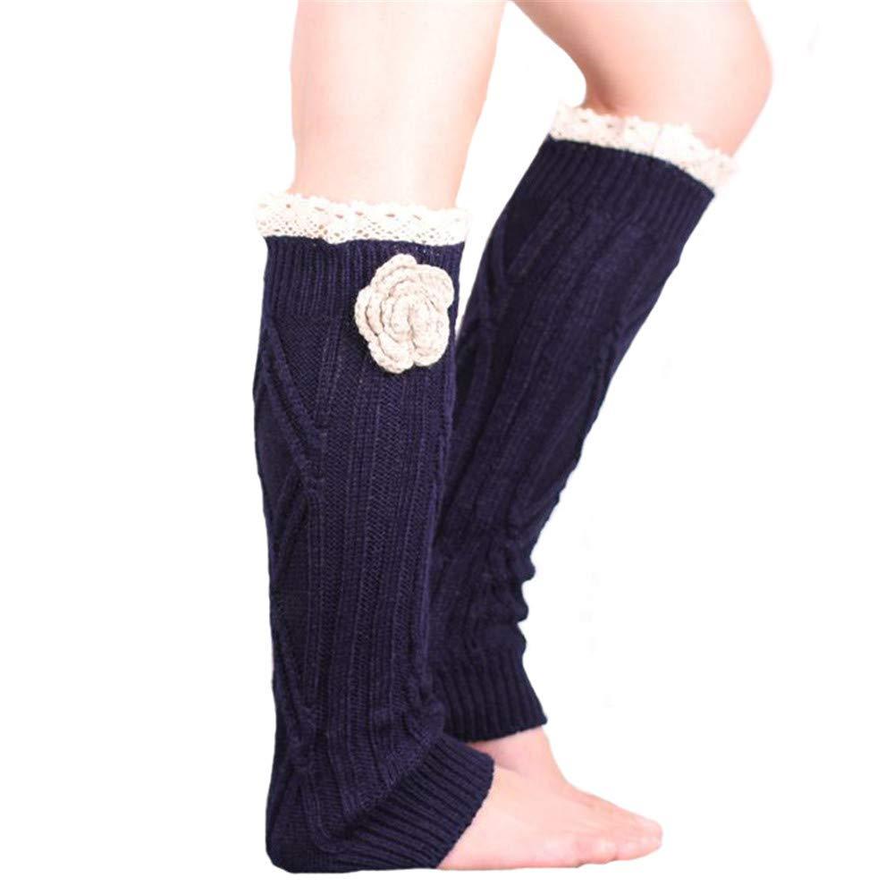 EXQUILEG Damen M/ädchen Winter Leg Warmer Beinw/ärmer Gestrickt Verdicken Beinstulpen Tanzen Strumpf