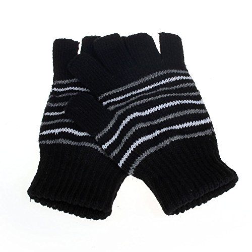 GOVOW Clearance Sale!New Heated Fingerless Gloves 5V Usb Powered Heating Heated Women Winter Hand Warmer Gloves Washable