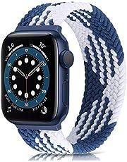 Runostrich Solo Loop klockarmband kompatibla för Apple Watch 40 mm 38 mm, vävda flätade sportremmar för iwatch 6/SE/5/4/3/2/1