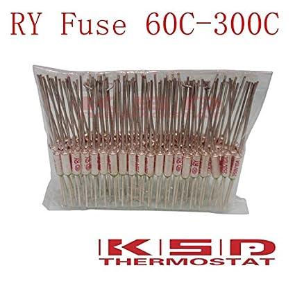 Davitu 10PCS LOT Thermal Fuse RY Tf 92C 92 Celsius Degrees 10A250V Metal Protector
